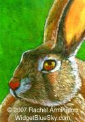 Hand-Made Painting by nature artist Rachel - Wise Rabbit